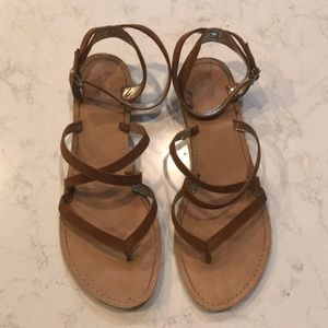 Tan sandals from target